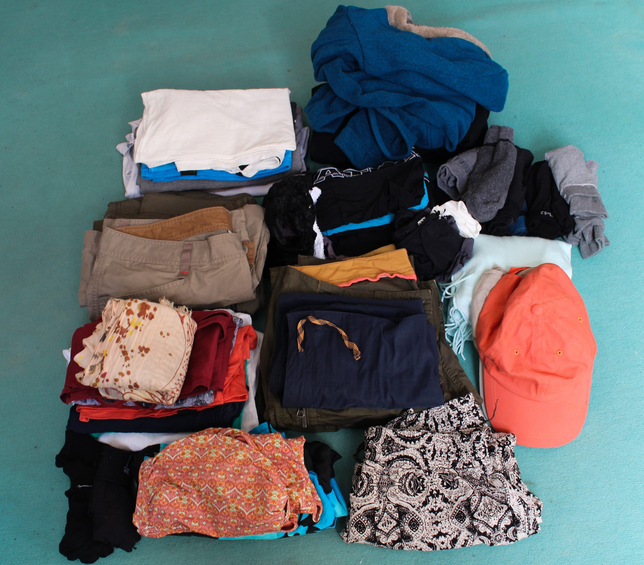 contenu sac à dos vêtements