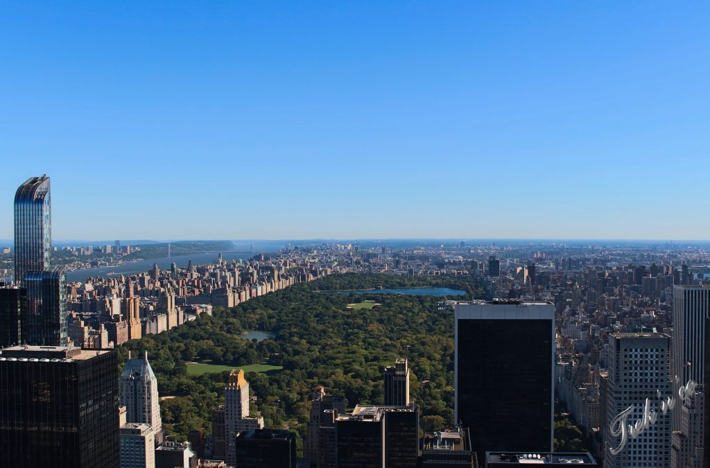 Rockfeller view on central park