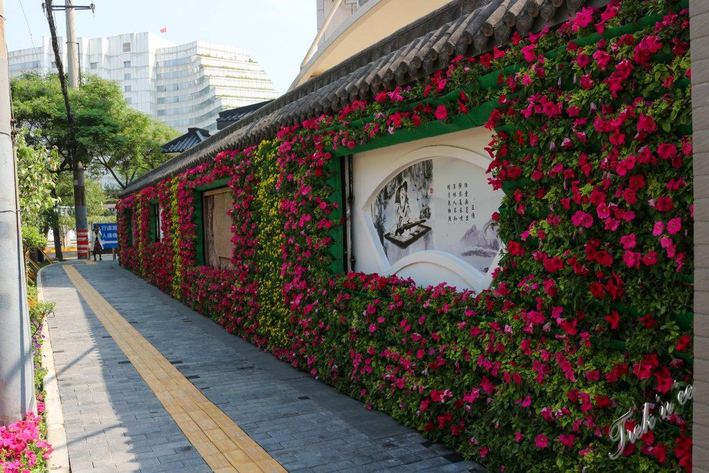 Rue fleurie à Xi'an