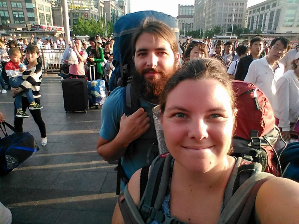 Backpackers in China