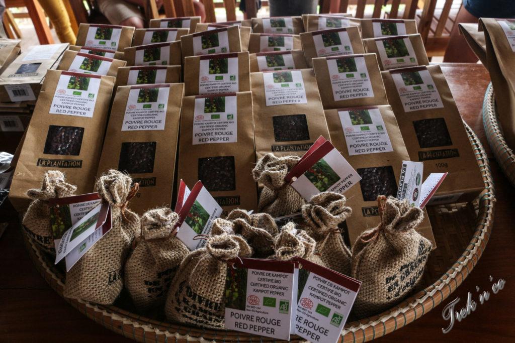Sachets de poivre de Kampot