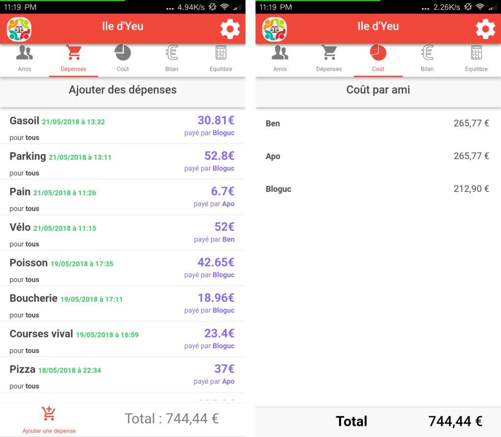 Screenshot comptesAmisV3.2